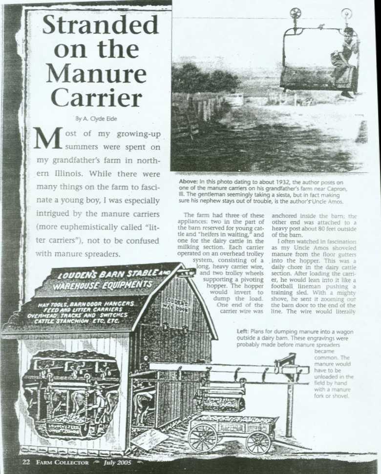 Louden Litter Carrier Maasdam Barns